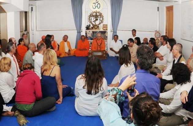 Recepção dos Mestres convidados no Dia Internacional do Yoga