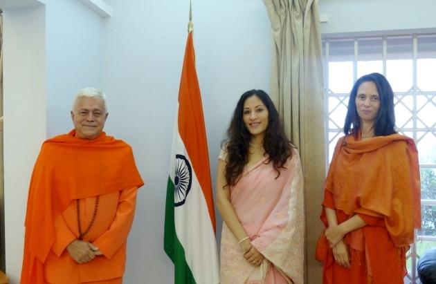 Visita de H.H. Jagat Guru Amrta Súryánanda Mahá Rája à Embaixada da Índia