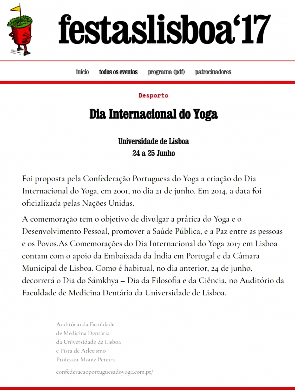 Site das Festas de Lisboa
