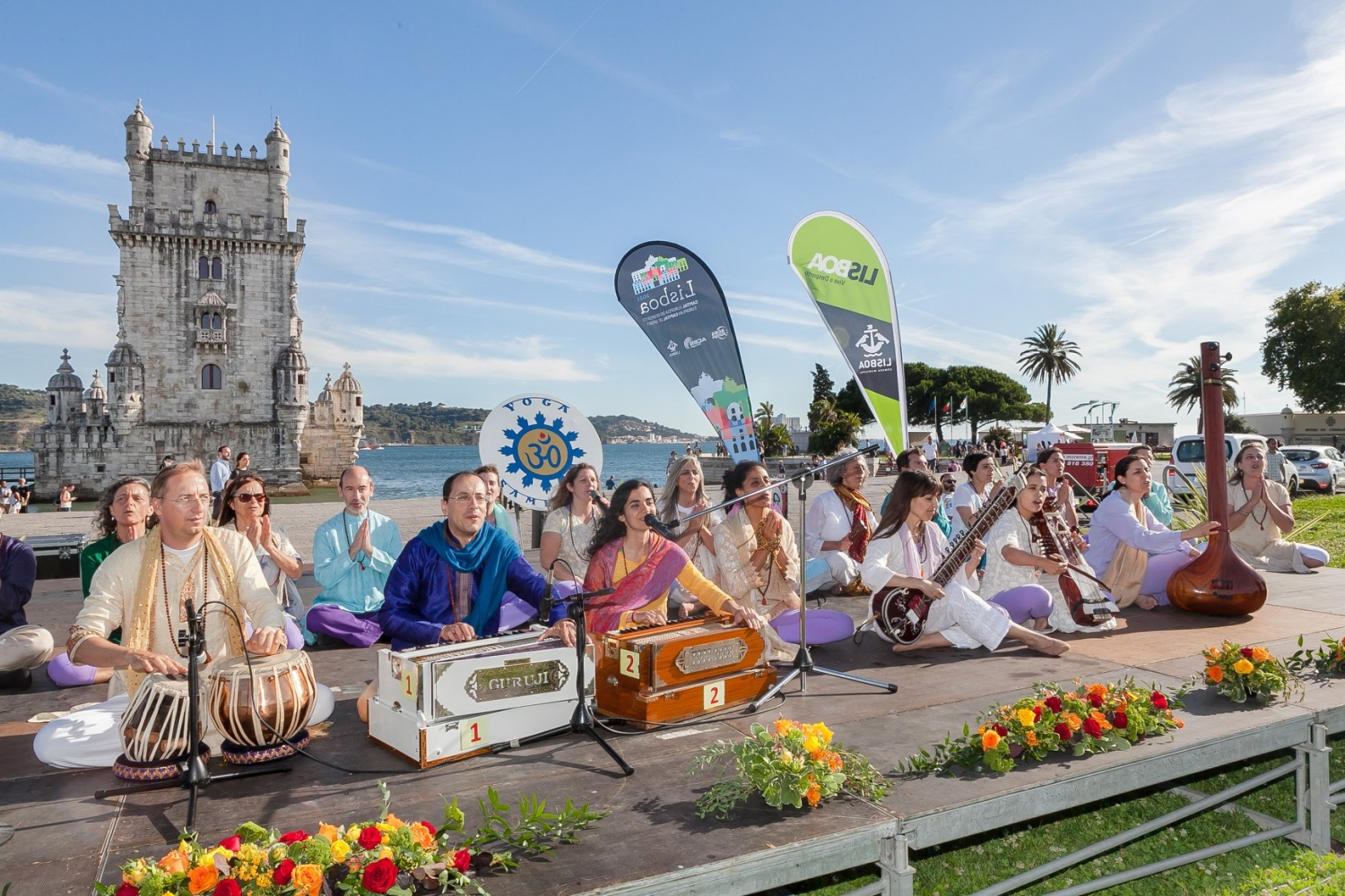 IDY - 2019, June, 21st - Belém - Omkára, Mantra Orchestra of the Portuguese Yoga Confederation