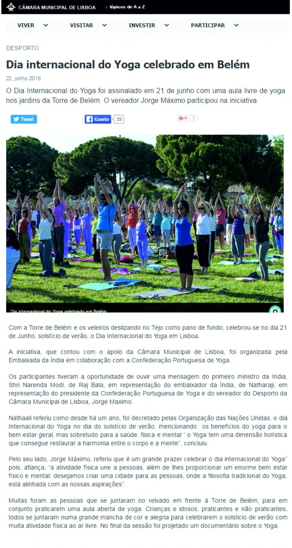 Lisboa City Hall website - 2016, June, 22nd