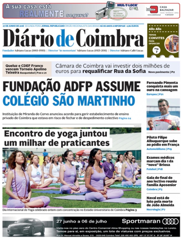 Diário de Coimbra - 2016, June, 27th
