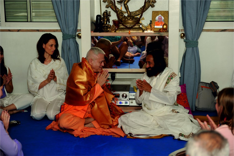 Visita de Shrí Shrí Ravi Shankar en la Sede Nacional de la Confederación Portuguesa del Yoga