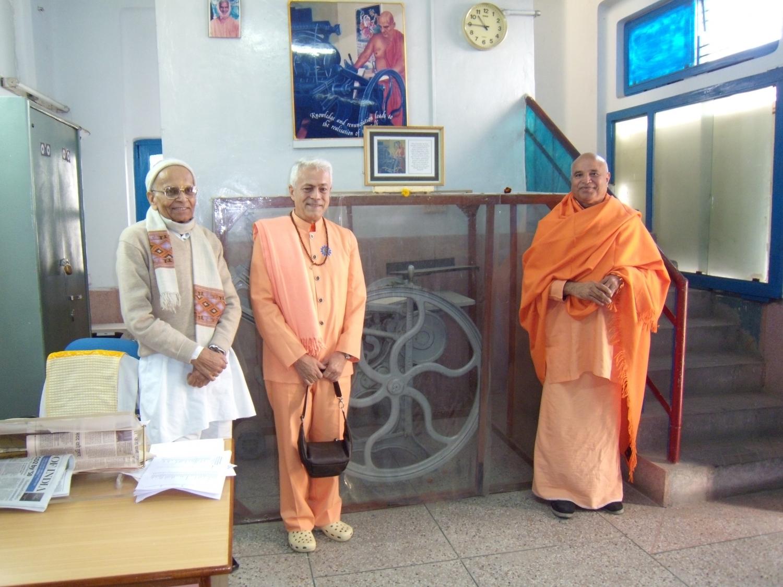 Meeting of H.H. Jagat Guru Amrta Sūryānanda Mahā Rāja with H.H. Svāmin Vimlānanda Sarasvatī Mahā Rāja et H.H. Svāmin Yogasvarupānanda - Shivánanda Āshrama, rshikesh, India - 2010, january