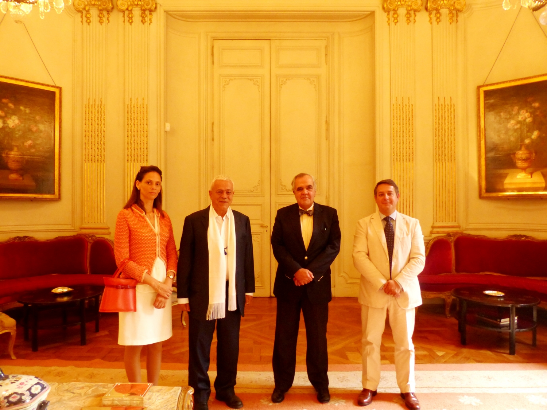 Com S.E. Dr. José Filipe Moraes Cabral, Embaixador de Portugal na UNESCO de 2013 a 2017