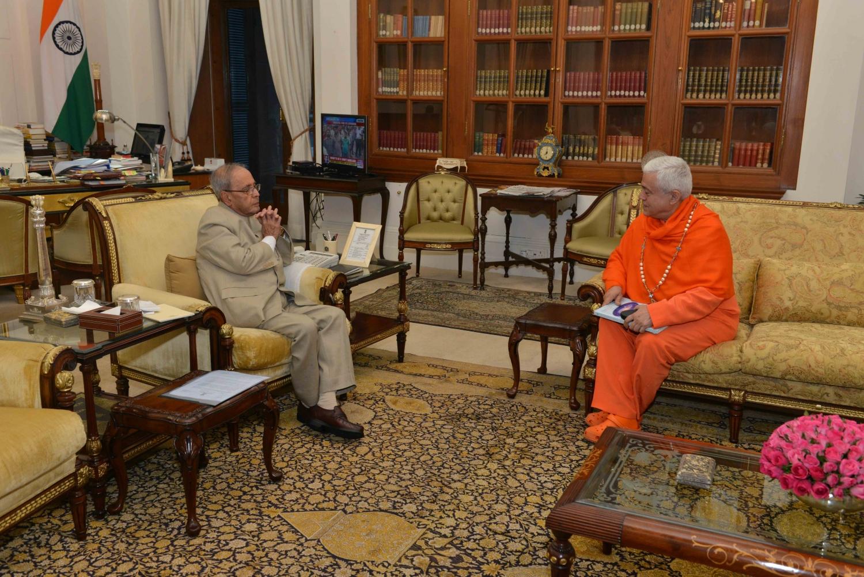 Reunião com o Honorável Presidente da Índia Pranab Mukherjee, Rashtrapati Bhavan, New Dillí - 2016, Maio