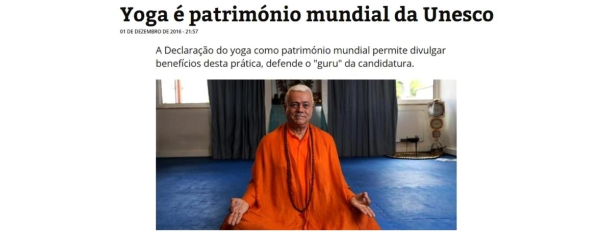 YOGA ELEVADO A PATRIMÓNIO CULTURAL E IMATERIAL DA HUMANIDADE